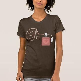 Camiseta para mujer del perfume del estante de la poleras