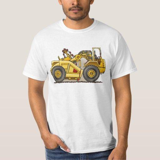 Camiseta para mujer del raspador de la excavadora poleras