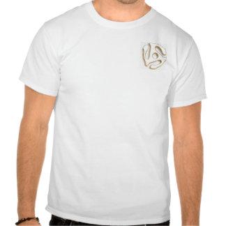 Camiseta para mujer fina rayada blanca del oro de