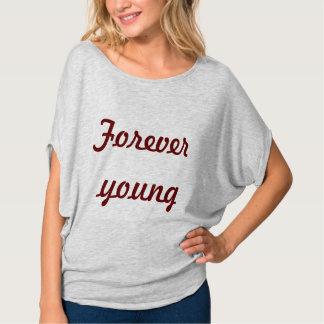 Camiseta para siempre joven poleras