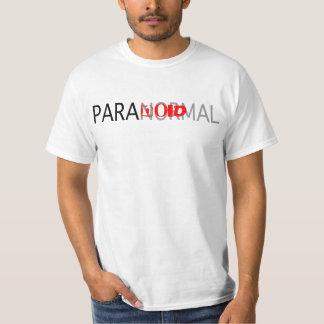Camiseta paranoica paranormal