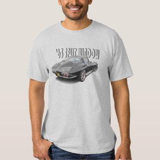 Camiseta partida del Corvette de la ventana 1963 Playera