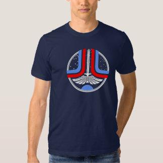 Camiseta pasada del emblema de Starfighter Polera