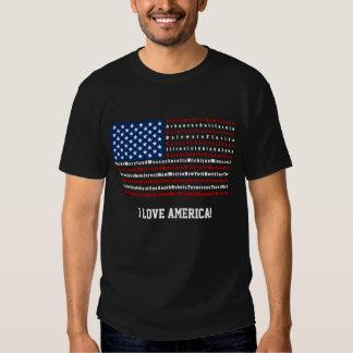 Camiseta patriótica de la bandera de los E.E.U.U. Remeras