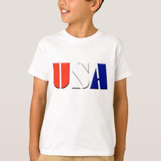 Camiseta patriótica de los E.E.U.U. de los niños