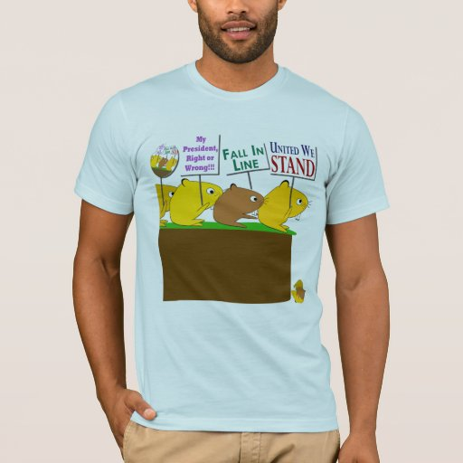 Camiseta patriótica de los lemings