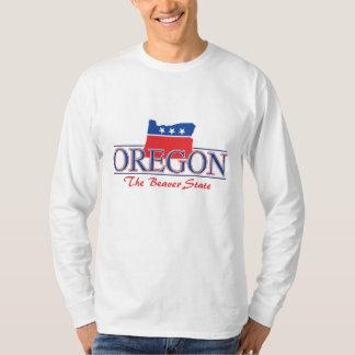 Camiseta patriótica de Oregon Poleras