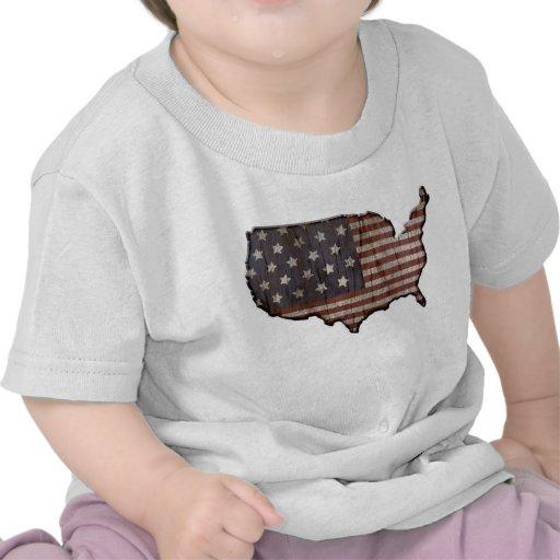 Camiseta patriótica del bebé de Estados Unidos de
