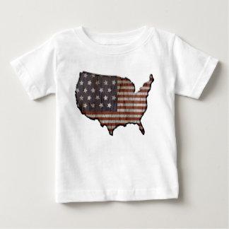 Camiseta patriótica del bebé de Estados Unidos de Remeras