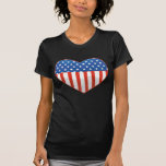 Camiseta patriótica del corazón