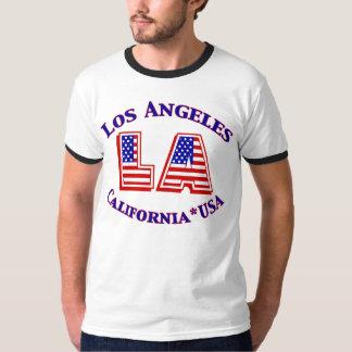 Camiseta patriótica del logotipo de Los Ángeles
