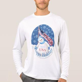 Camiseta patriótica del navidad para las tropas playera