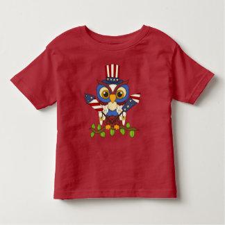 Camiseta patriótica del niño de julio del cuarto