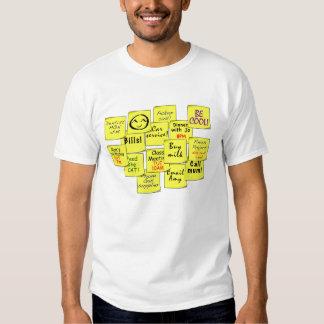 Camiseta PEGAJOSA de las NOTAS Poleras