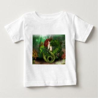 Camiseta pelirroja del bebé de la sirena poleras
