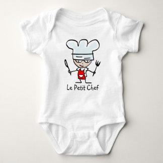 Camiseta pequena del dibujo animado del cocinero poleras