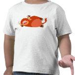 Camiseta perezosa linda de los niños de la vaca de