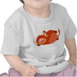 Camiseta perezosa linda del bebé de la vaca de la