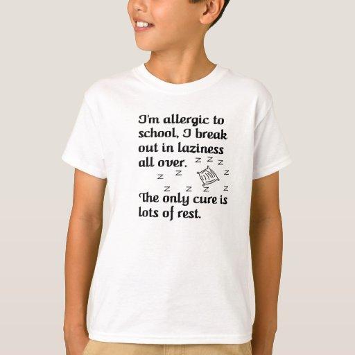 Camiseta perezosa para los niños