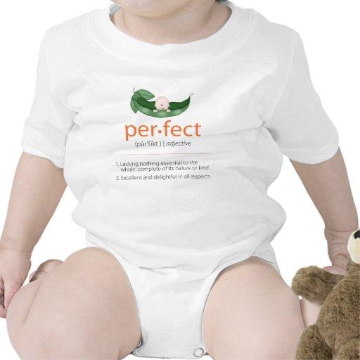 """Camiseta """"perfecta"""" anaranjada del bebé de la Guis"""