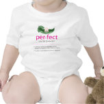 """Camiseta """"perfecta"""" del bebé de la Guisante-en-uno"""