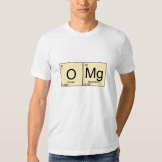 Camiseta periódicamente divertida del magnesio del playeras