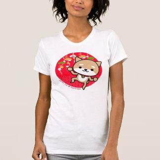 Camiseta - perrito - rojo japonés