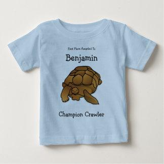 Camiseta personal del bebé de la tortuga de la playeras