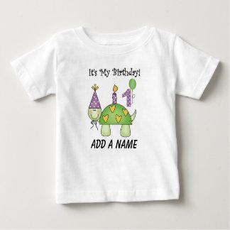 Camiseta personalizada 1r cumpleaños de la tortuga playeras