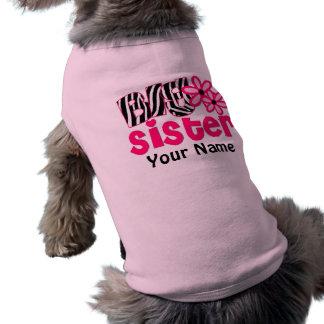 Camiseta personalizada cebra del perro de la herma playera sin mangas para perro