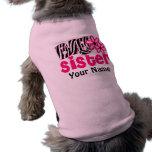 Camiseta personalizada cebra del perro de la herma camiseta de perrito