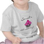 Camiseta personalizada de la magdalena del cumplea