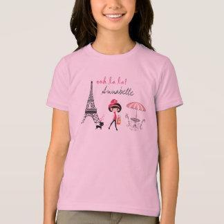 Camiseta personalizada de París del chica y del Playeras