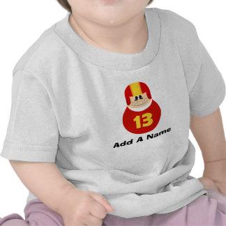 Camiseta personalizada del bebé del fanático del