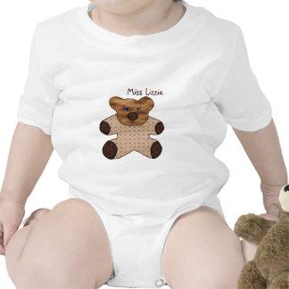 Camiseta personalizada del bebé del oso de peluche
