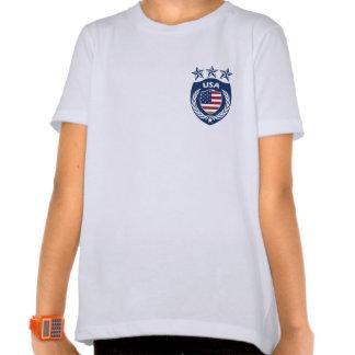 Camiseta personalizada del campanero de los chicas poleras