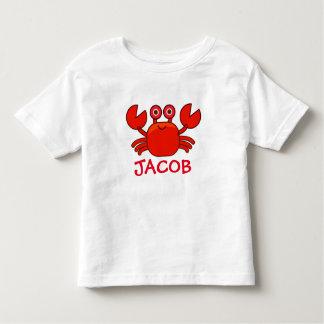 Camiseta personalizada del cangrejo para el bebé o playera