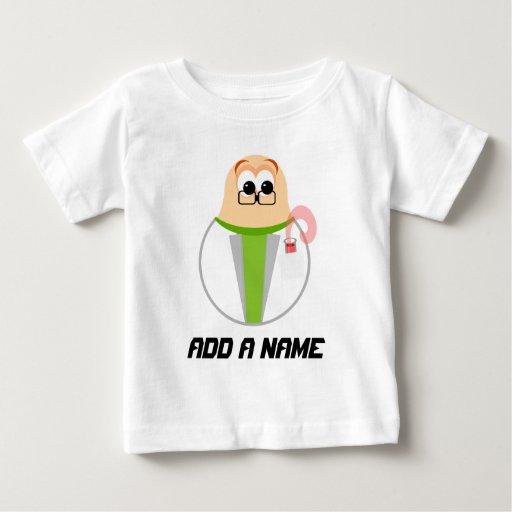 Camiseta personalizada del científico del bebé