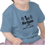 Camiseta personalizada del cumpleaños del béisbol