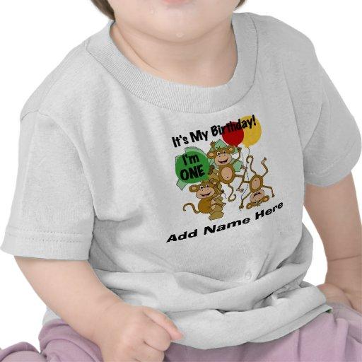 Camiseta personalizada del cumpleaños del brillo d