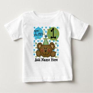 Camiseta personalizada del cumpleaños del oso de