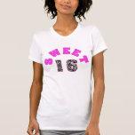 Camiseta personalizada del dulce 16 del estampado