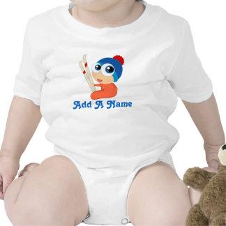 Camiseta personalizada del esquí del bebé del esqu