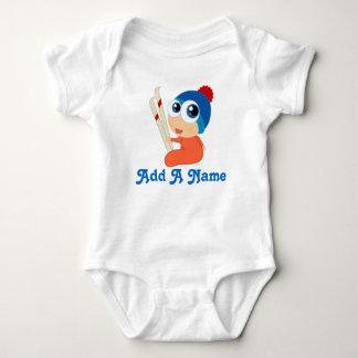 Camiseta personalizada del esquí del bebé del remeras