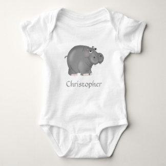 Camiseta personalizada del hipopótamo polera