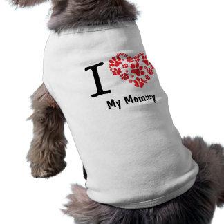 Camiseta personalizada del mascota de la mamá del playera sin mangas para perro
