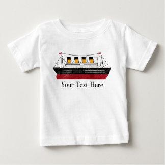 Camiseta personalizada del niño del buque de vapor polera
