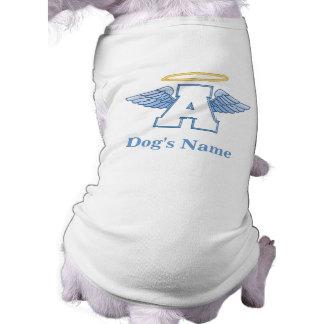 Camiseta personalizada del perro del ángel camisetas mascota