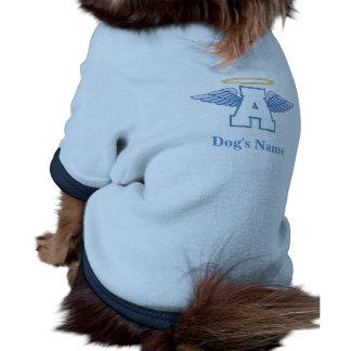Camiseta personalizada del perro del ángel camisa de perro
