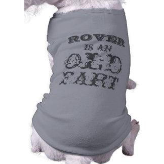 Camiseta personalizada del perro: Viejo Fart Playera Sin Mangas Para Perro